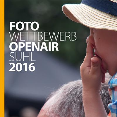 Flyer zum Fotowettbewerb Generation Suhl . Foto Openair Suhl 2016 (Foto, Grafikdesign: Andreas Kuhrt)