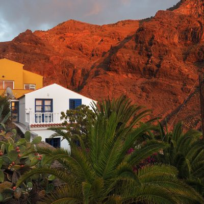 "La Calera: Blick zur Casa ""Buena Vista"" . Valle Gran Rey . La Gomera . Kanarische Inseln 2018 (Foto: Andreas Kuhrt)"