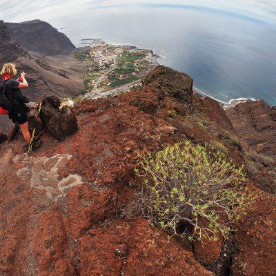 Camino la Mérica: Blick zur Küste . Valle Gran Rey . La Gomera . Kanarische Inseln 2018 (Foto: Andreas Kuhrt)