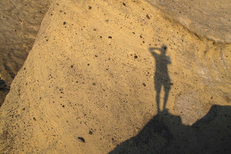 Selbstschatten . Salina . Liparische Inseln . 2011 (Foto: Andreas Kuhrt)