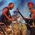 Jupiter & Okwess: Richard Kabamga Kasonga & Yende Balamba Bongongo . Rudolstadt-Festival 2017 (Foto: Manuela Hahnebach)