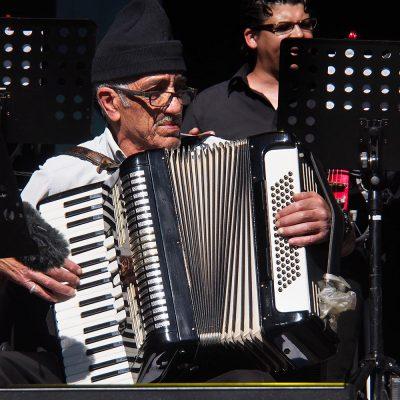 El Gusto Orchestra: Mohamed Ferkioui . Rudolstadt-Festival 2018 (Foto: Andreas Kuhrt)